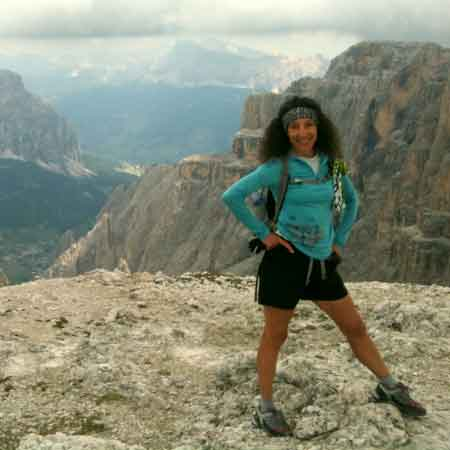 Therese Iknoian in the Dolomites for Therese Translates